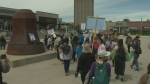 Climate rally Waterloo