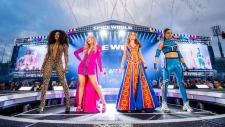 The Spice Girls on stage in Dublin's Croke Park stadium on the opening night of their U.K. and Ireland reunion tour. (Twitter/SpiceGirls)