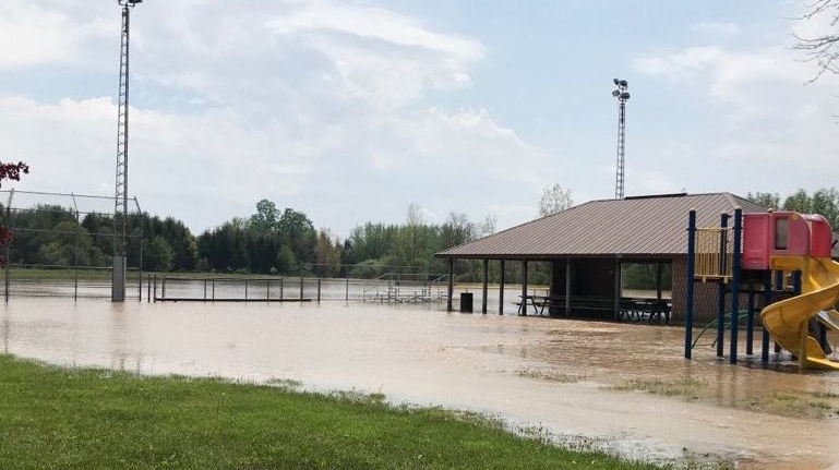 Flooding at Denfield Park on May 25, 2019. (Courtesy: Middlesex Centre/Twitter)