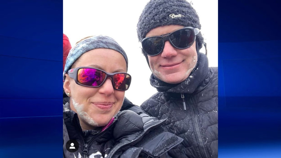 Kristyn Carriere and Robin Fisher arrived at Everest base camp on April 17.