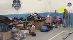 A sports equipment give away took place Saturday at the Dartmouth Boys and Girls Club.