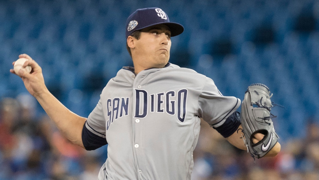 San Diego Padres starting pitcher Cal Quantrill