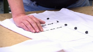 Alexa Jovanovic has incorporated braille into clothing.