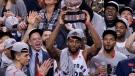 'A landmark moment': Raptors beat Bucks