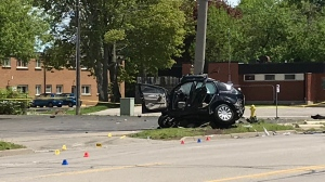 Fatal crash on Colborne Street in Brantford. (May 26, 2019)