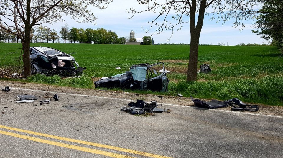 A Toronto man was killed in a crash just south of Fergus on May 26, 2019. (Coiurtesy: OPP)
