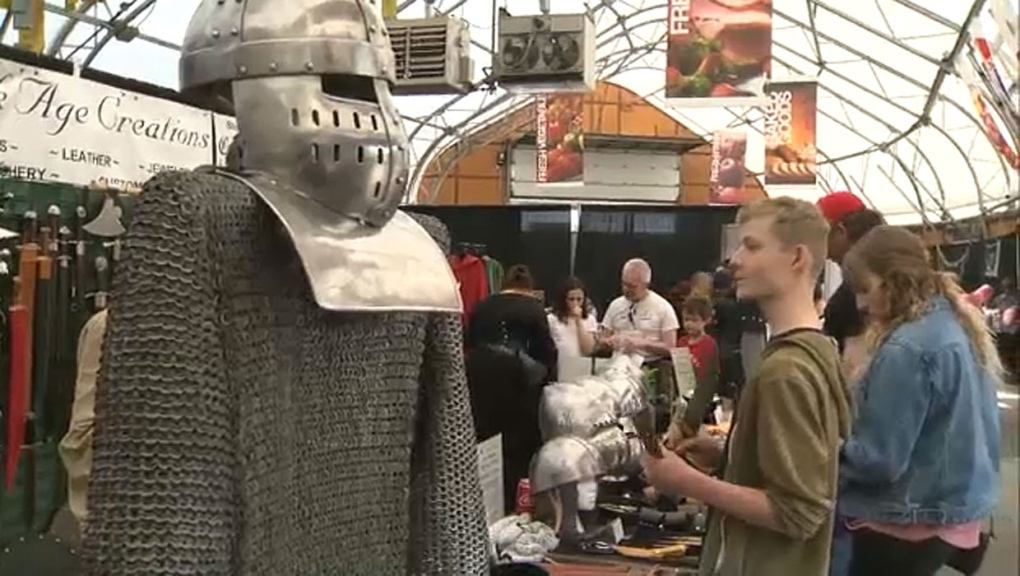 Swords and spells for sale at Calgary's first annual Medieval Faire