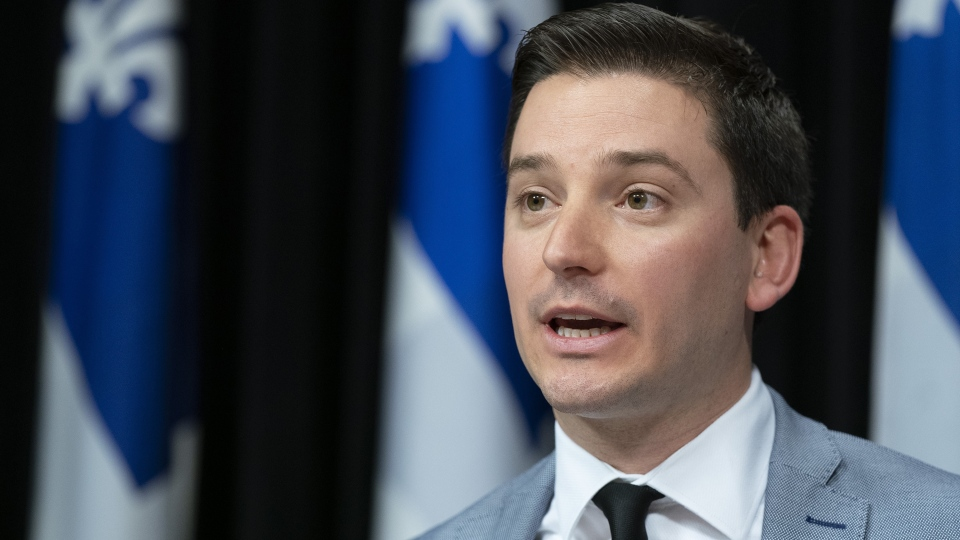 Quebec Immigration Minister Simon Jolin-Barrette. (THE CANADIAN PRESS/Jacques Boissinot)