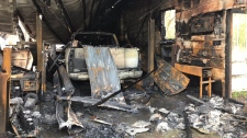 Inside Dave's Auto Repair after a fire on Sunday
