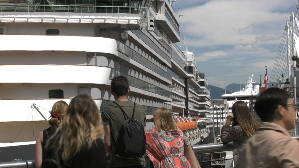 Typically, two cruises are berthed at the port and during the peak of summer, up to three cruises are docked. (CTV)
