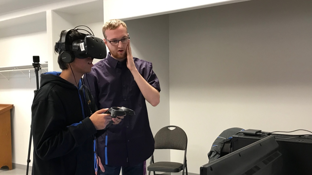 Visually impaired youth try out accessible virtual reality game