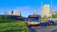 A stabbing on a TTC bus at Lawrence East station occurred on May 26, 2019.