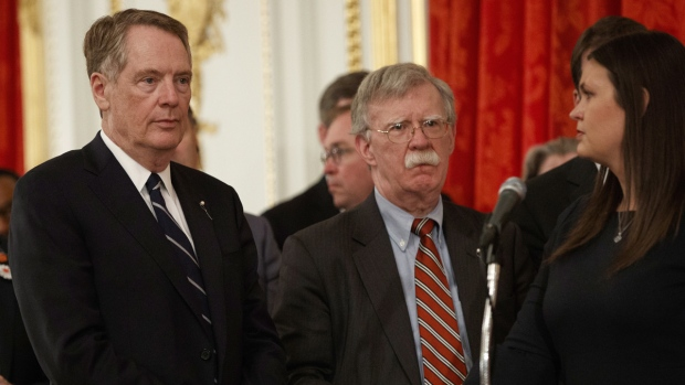 Lighthizer, left, Bolton and Sanders
