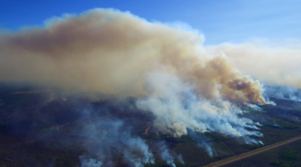 Aerial footage of the wildfire near High Level shot on May 25, 2019. (SOURCE: GOVERNMENT OF ALBERTA)