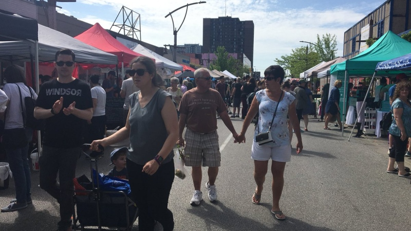Downtown Windsor Farmers' Market in Windsor, Ont., on Saturday, May 25, 2019. (Ricardo Veneza / CTV Windsor)