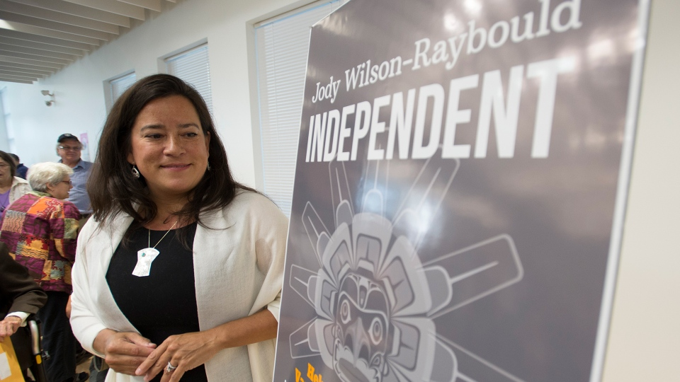 Jody Wilson-Raybould announces that she will run as a independent in the fall election during a news conference in Vancouver, Monday, May 27, 2019. THE CANADIAN PRESS/Jonathan Hayward