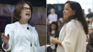 Jane Philpott and Jody Wilson-Raybould in a combination photo (Jonathan Hayward / Nathan Denette / THE CANADIAN PRESS)