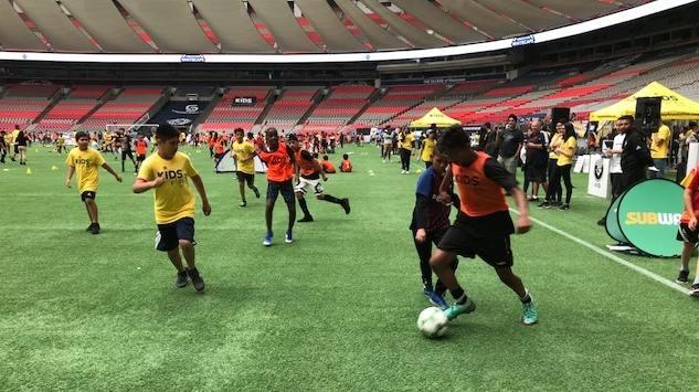 Kids pack BC Place for soccer tournament