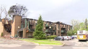 A St-Eustache low-cost seniors' residence was severely damaged by fire on Mon., May 27, 2019.