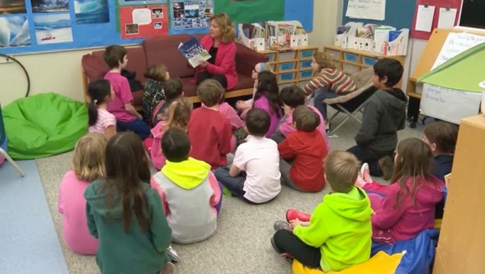 Calgary, classroom, teacher