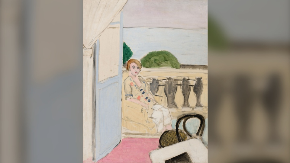"""Femme assise sur un balcon"" by Henri Matisse will be sold to the highest bidder at Heffel Fine Art Auction House in Toronto on May 29. (Heffel Fine Art)"