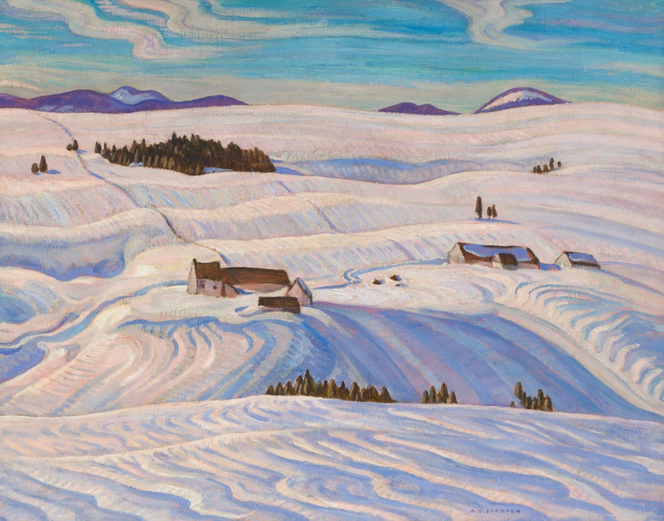 """Laurentian Hills"" by Canadian artist A.Y. Jackson is expected to fetch between $250,000 and $350,000 at auction in Toronto. (Heffel Fine Art Auction House)"