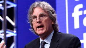 Facebook investor and venture capitalist Roger McNamee addresses reporters at the 2018 Television Critics Association Summer Press Tour at the Beverly Hilton, Tuesday, July 31, 2018, in Beverly Hills, Calif. (Photo by Chris Pizzello/Invision/AP)