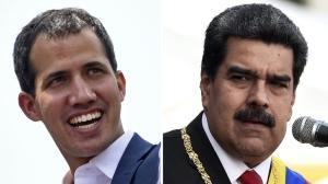 Representatives of Venezuelan opposition leader Juan Guaido, left, and Venezuelan President Nicolas Maduro began meeting in Oslo on Monday. (AFP)