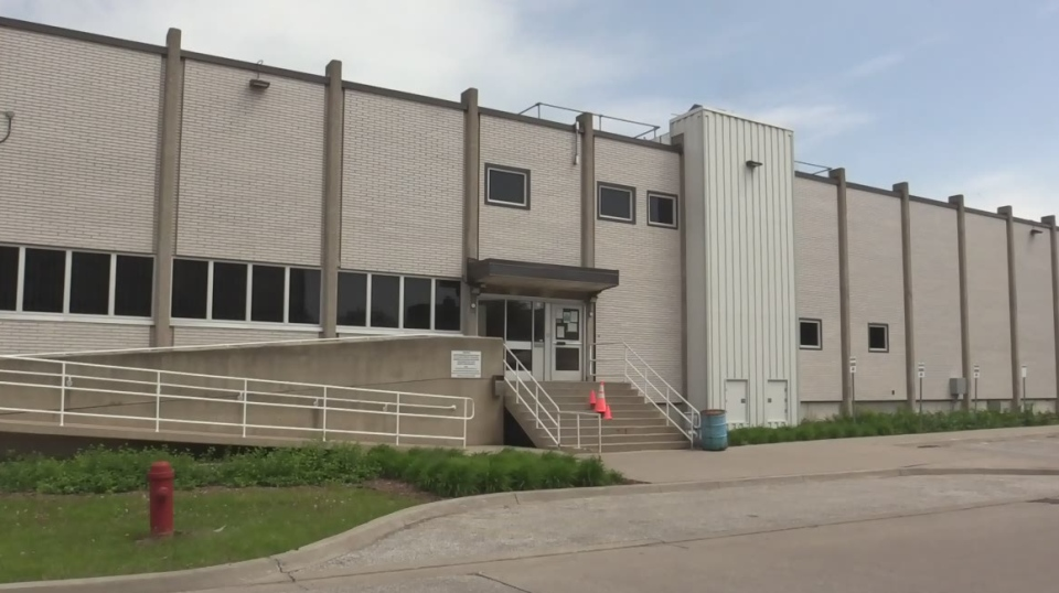 The jail in Sarnia, Ont. is seen on Saturday, May 25, 2019, a day after several opioid overdoses were reported at the facility.