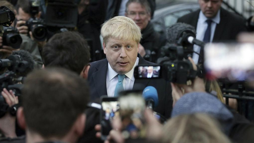 Boris Johnson in London in 2016