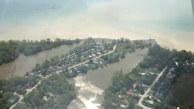 Aerial photos of the Lake Erie Shoreline in Essex County and Chatham-Kent, Tuesday, May 28, 2019. (Chris Campbell / CTV Windsor)