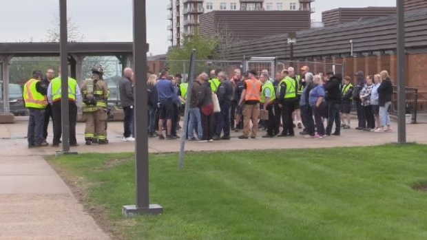 Employees at the Canada Post office on Almon Street in Halifax briefly walked off the job on May 29, 2019, over concerns of unsafe working conditions following a chemical spill.