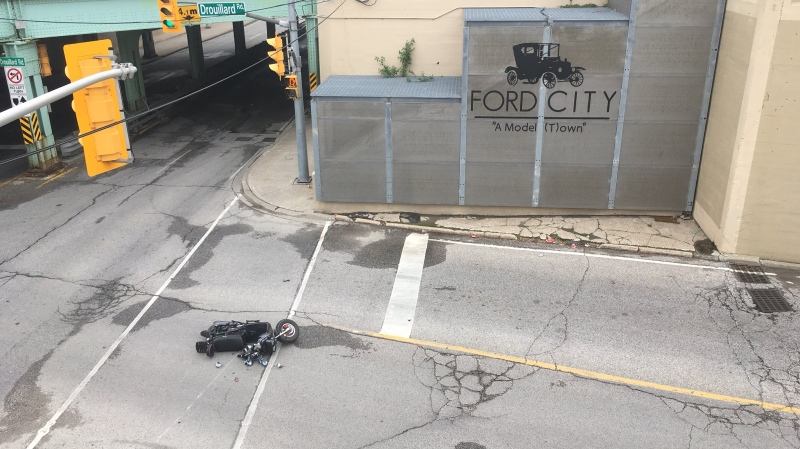 Officers were called to Wyandotte Street East at Drouillard Road in Windsor, Ont., on Wednesday, May 29, 2019. (Bob Bellacicco / CTV Windsor)