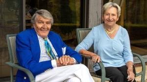 Charles and Margaret Juravinski are seen in this photo. They are pledging more than $100 million for an endowment to support health research in Hamilton, Ont.  (Source: McMaster University)