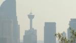 Calgary, Tower, wildfire, haze, smoke