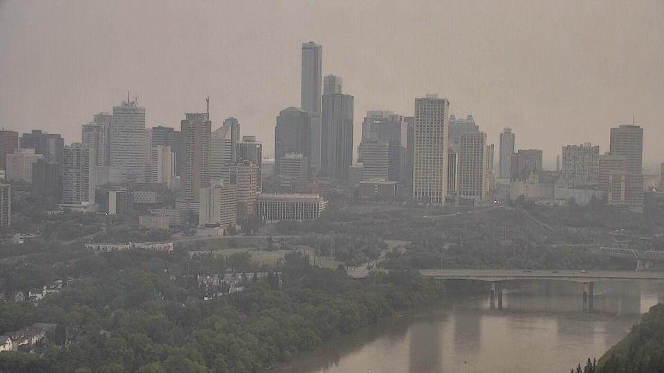 Smoky haze in Edmonton