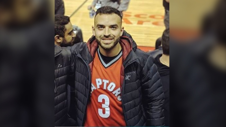 Dental student and Toronto Raptors fan Rawad Serhan has become a hit on Instagram after he posted a video of his jersey collection. (Instagram/rsr7n)