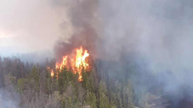 Pauingassi forest fire