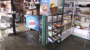 French River Supply post has 6 inches of water inside. (Dana Robert/CTV Northern Ontario)