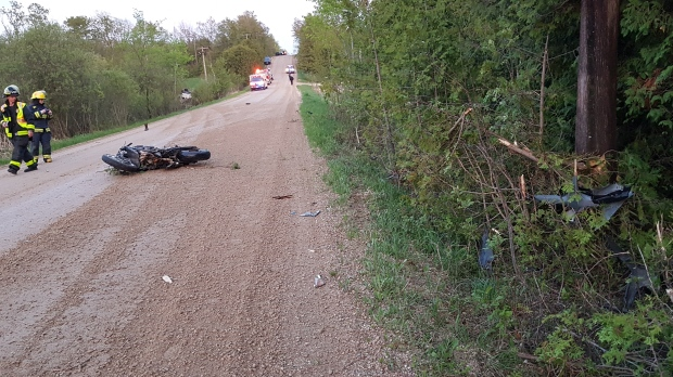 Markdale-area crash involving Hummer and motorcycle