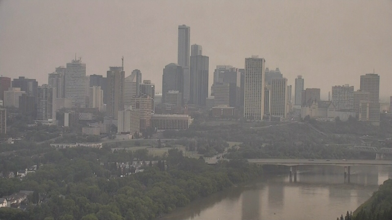 Wildfires lead to air quality advisory in Edmonton and area.