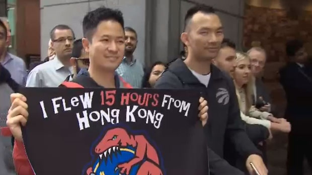 Sidney Tso flew in to Toronto from Hong Kong just to see the Toronto Raptors play in the NBA Finals.