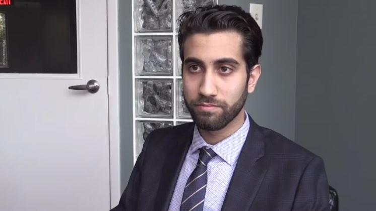 Amir Farahi of Blackridge Strategy speaks with CTV News in London, Ont., Oct. 24, 2018.