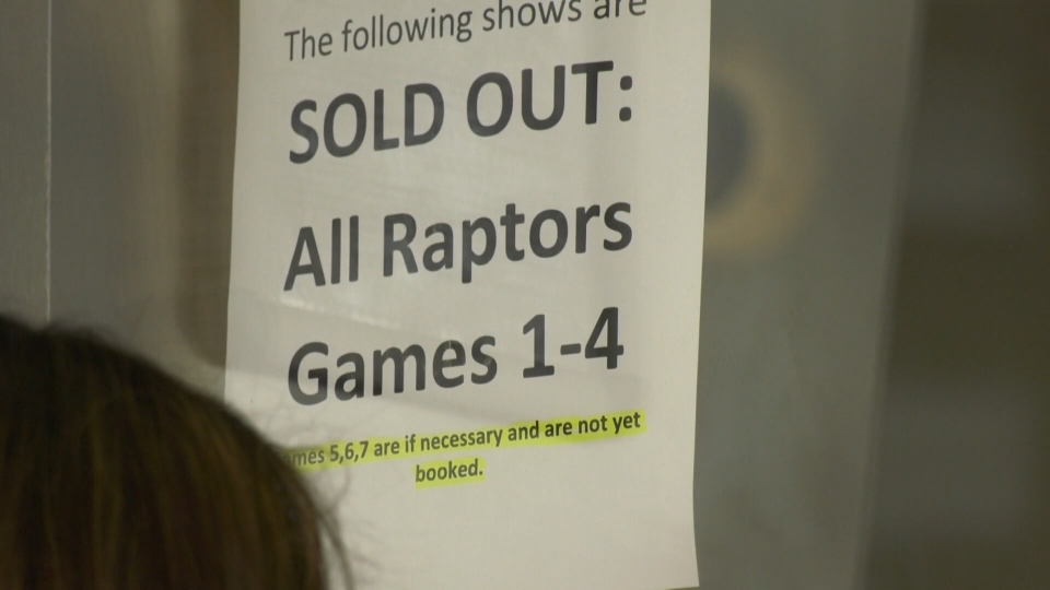 Movie theatres are offering showings of the NBA Finals between the Toronto Raptors and the Golden State Warriors.