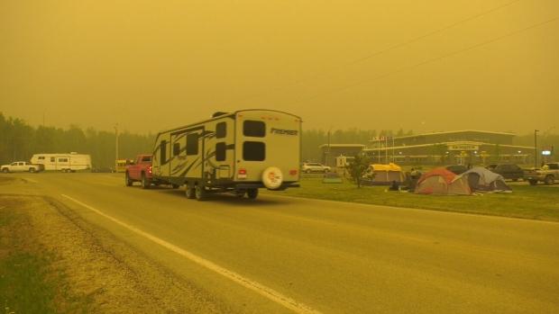 Wabasca residents were evacuated Wednesday night.