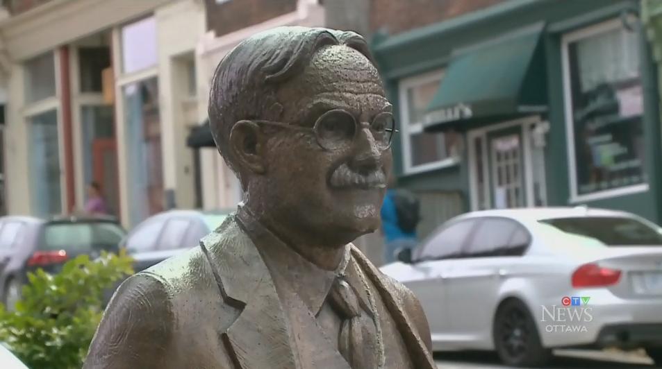 James Naismith statue Almonte, Ontario