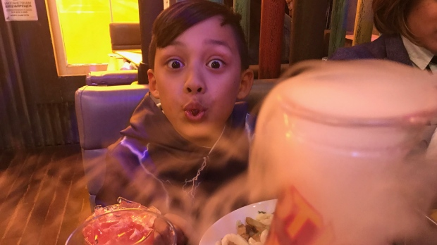 'Mom my drink's on fire!' Non-alcoholic drinks for the kids. (Brian Weatherhead / CTV Toronto)