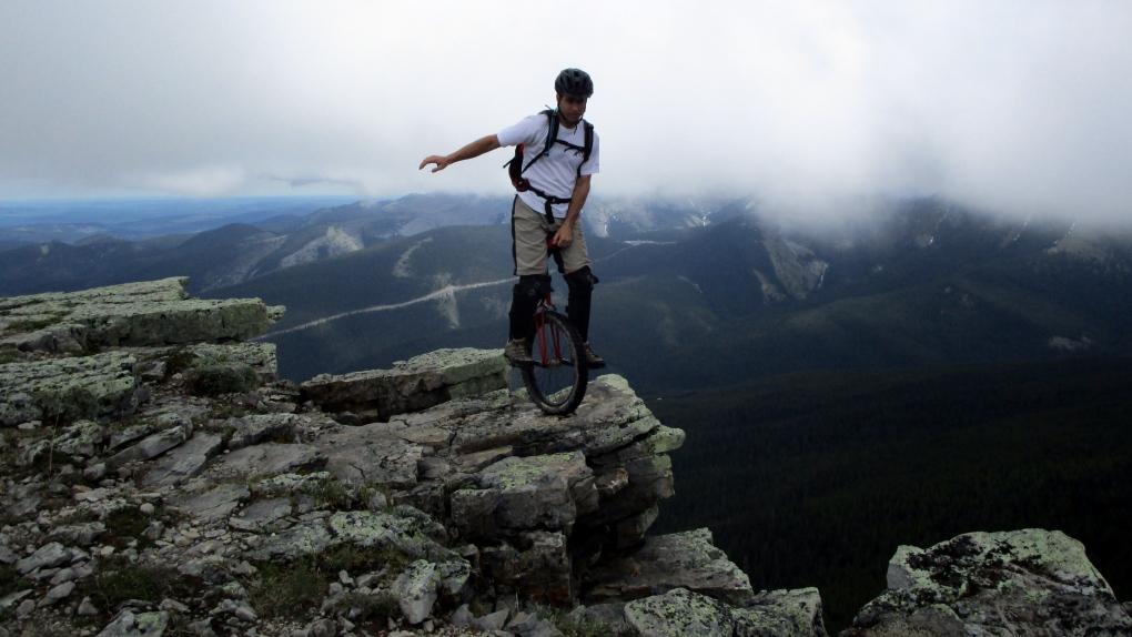 mountain unicycling Mike King