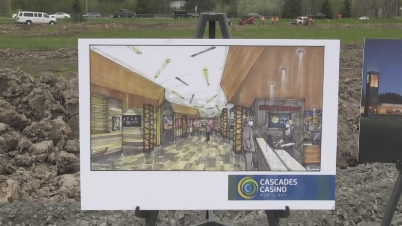 Shovels hit the dirt on the construction of the new casino in North Bay. Eric Taschner reports.