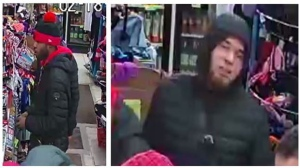 Two men suspected of attacking an STM worker